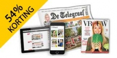 3 jaar De Telegraaf met 54% korting