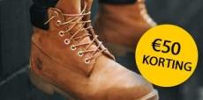 Krijg €50 korting op Timberland schoenen en kleding