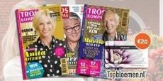 50% korting op Troskompas + Topbloemen cadeaubon t.w.v. €20!