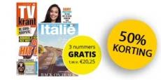 Tijdelijk! TV Krant met 50% korting+ 3 nummers van Smaak van Italië