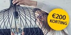 Krijg €200 cashback bij 1 jaar Vattenfall