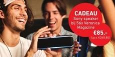 Gratis Sony speaker bij Veronica Magazine