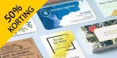 Vistaprint visitekaartjes met 50% korting